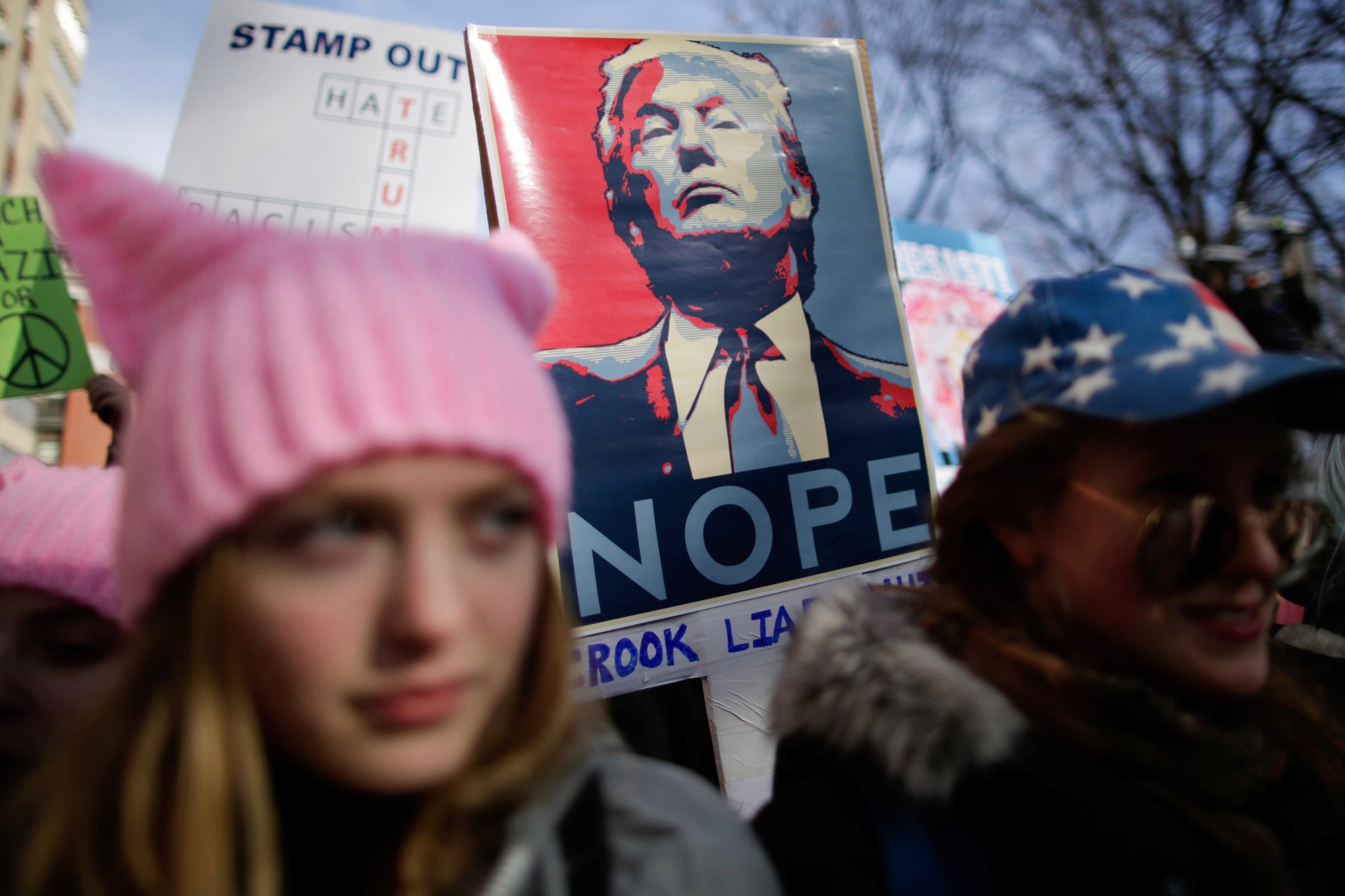 Trump trolls women's marches amid global protests