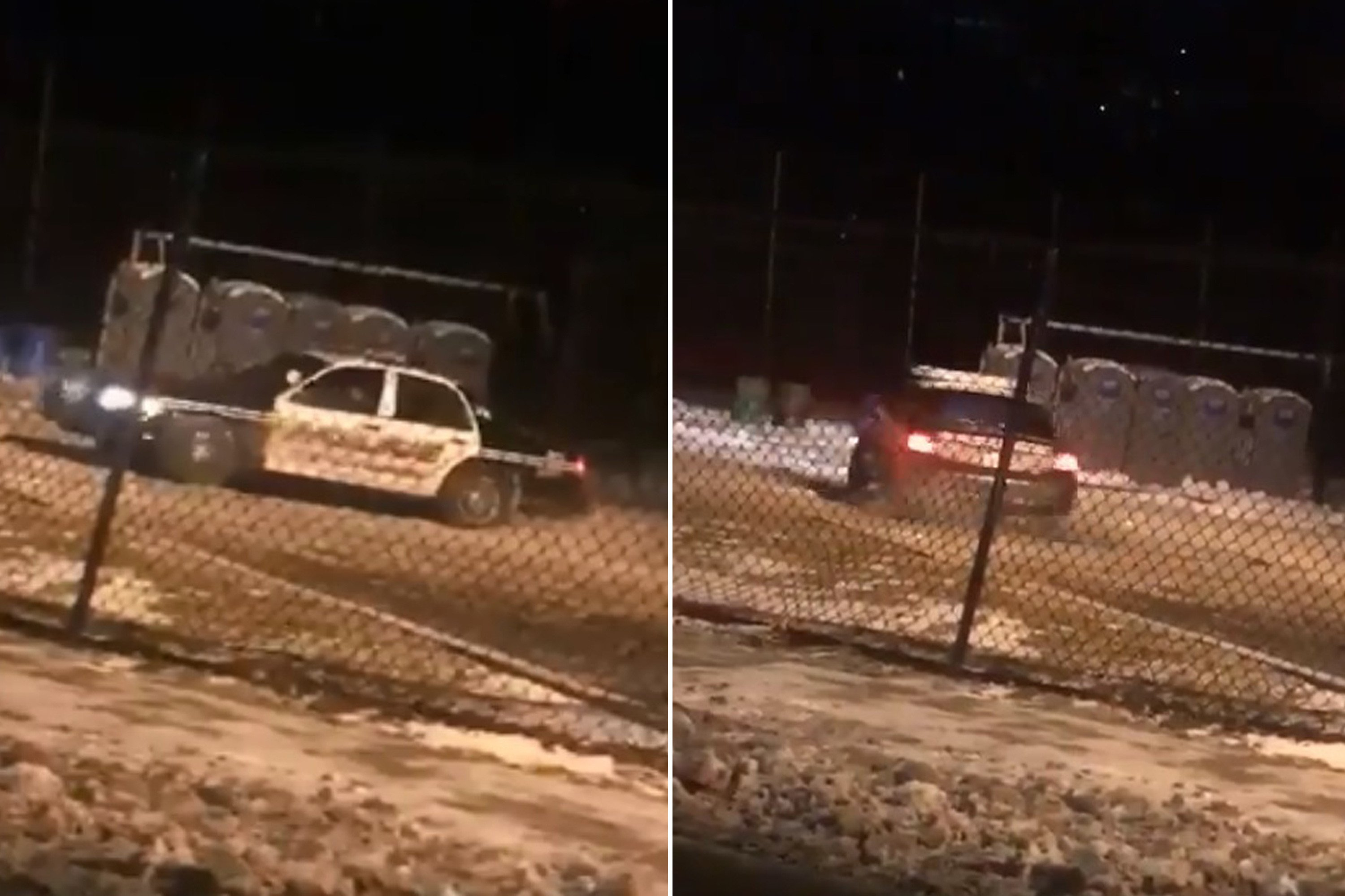 Cops open probe after video of police car doing doughnuts goes viral