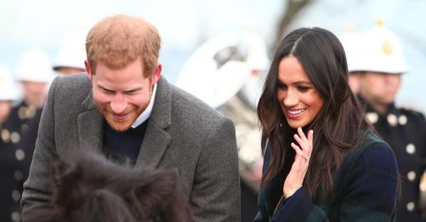 Prince Harry and Meghan Markle arrive in Scotland