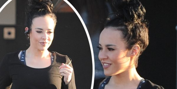 Stephanie Davis looks healthy and happy as she leaves gym