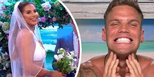 Love Island fans 'CRINGING' as Jess and Dom get married
