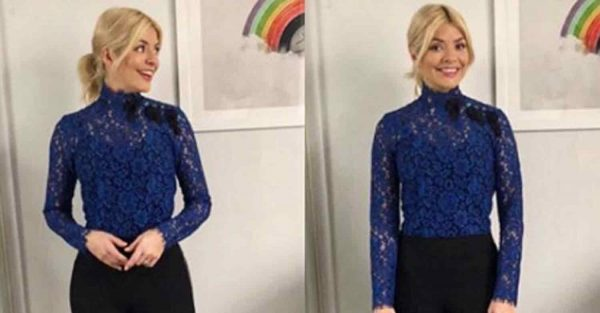 Holly Willoughby mixes up usual This Morning style in feminine lace blouse