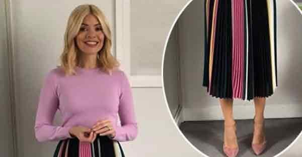 Holly Willoughby skirt on This Morning: Presenter caused fashion divide