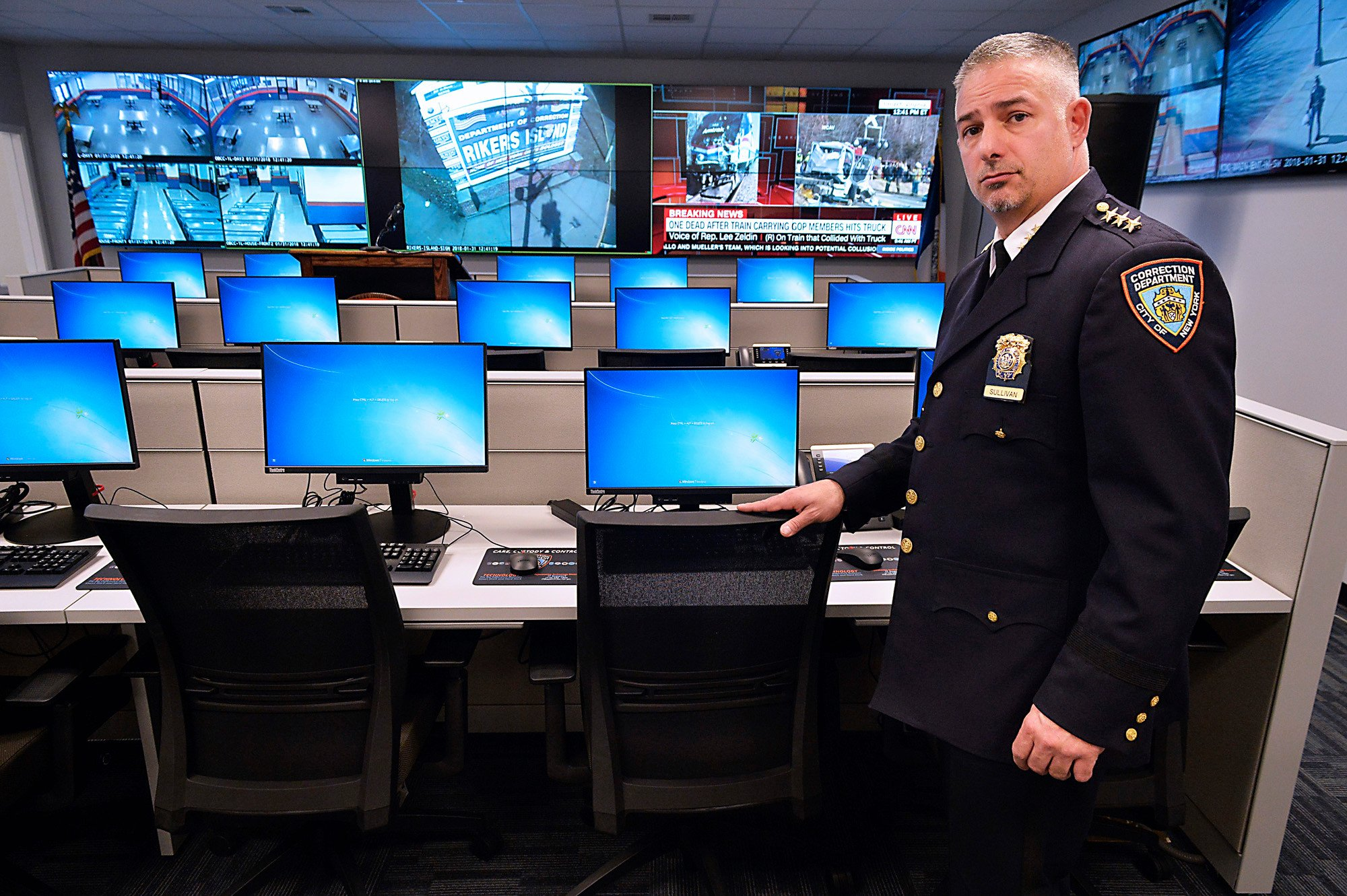 Rikers' new operation center can watch the entire jail at once