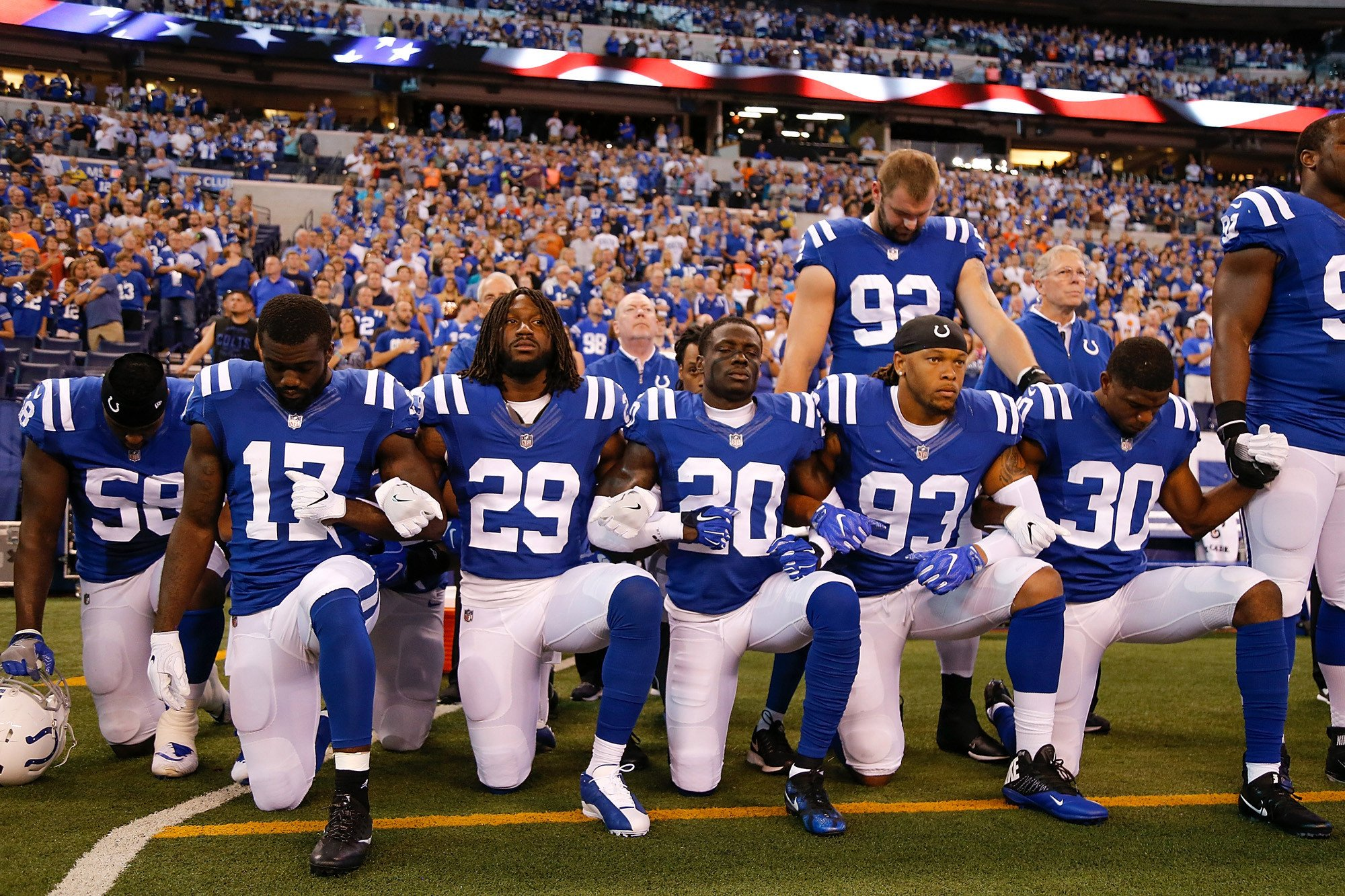NFL's highest paid players are also most likely to kneel: study