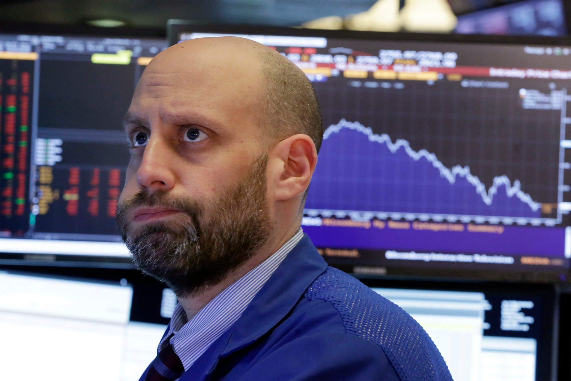 Dow drops more than 1,500 points as stock slide deepens