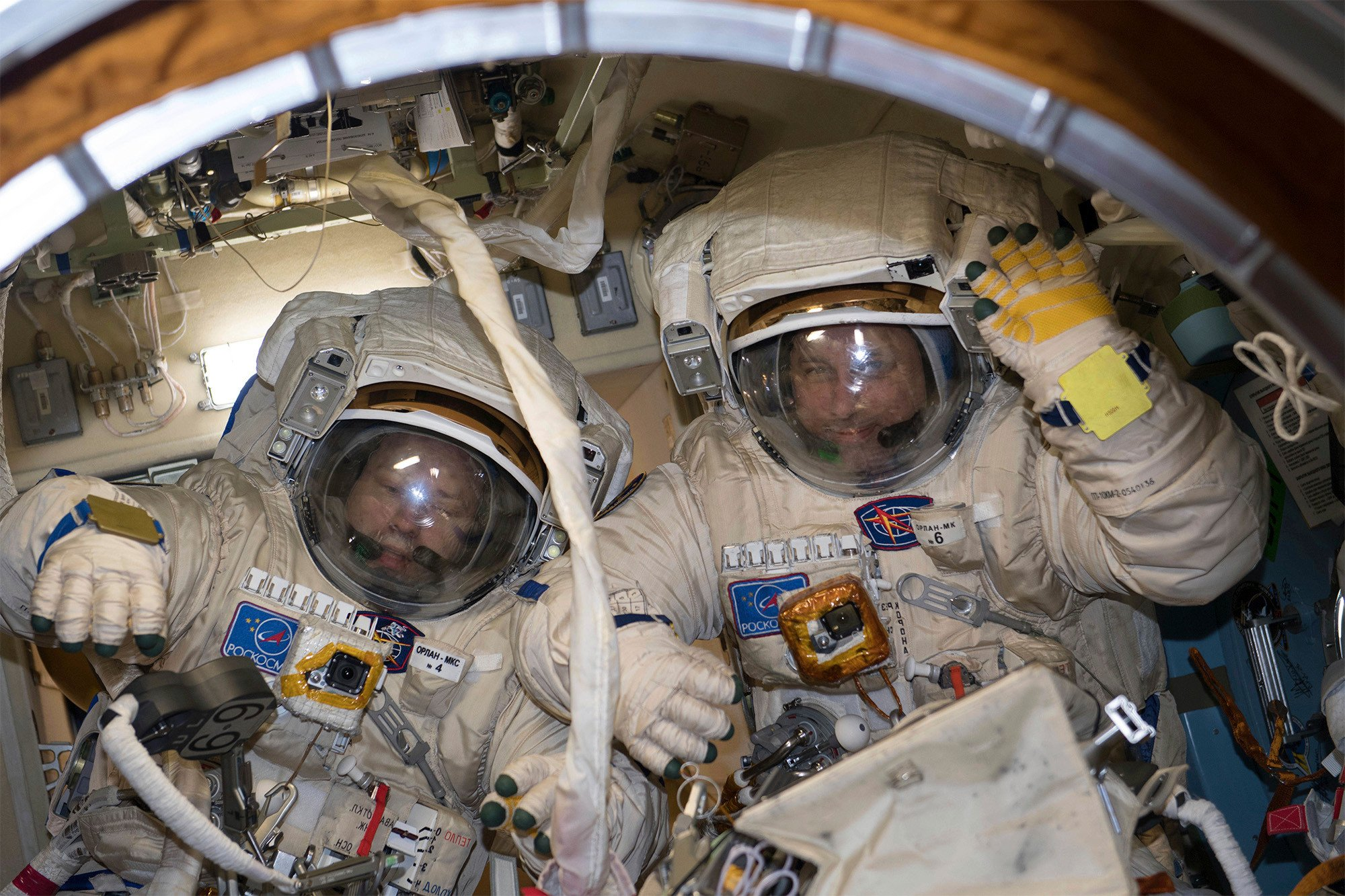 Russian astronauts screw up space station antenna