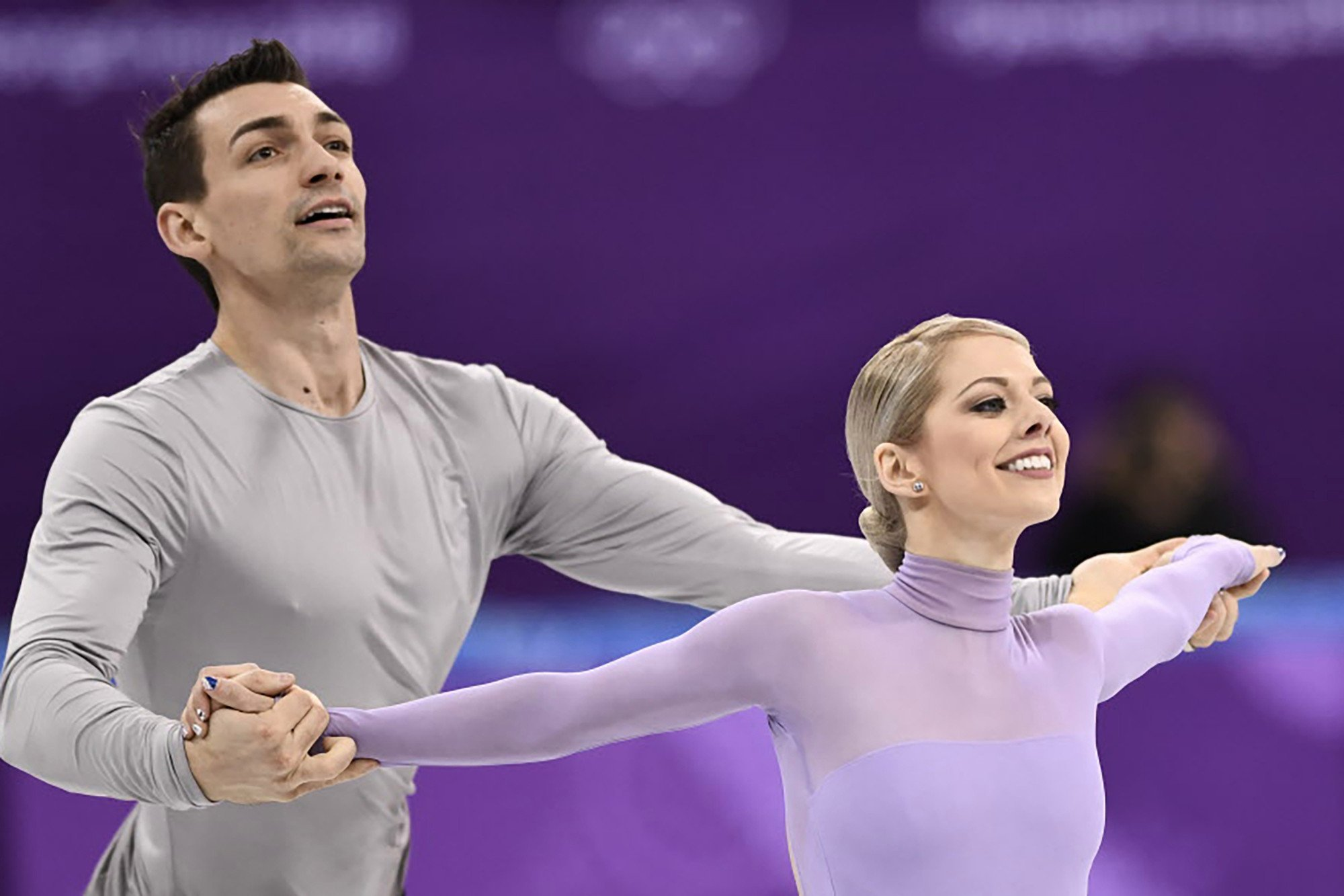 Olympic skating duo compete in honor of Florida shooting victims