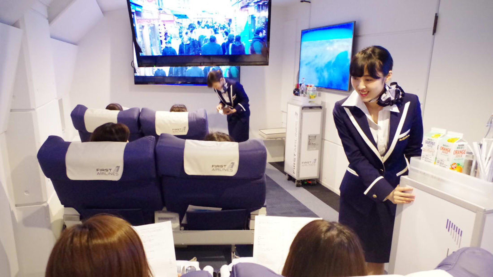 """Airline' offers full flying experience without ever taking off"