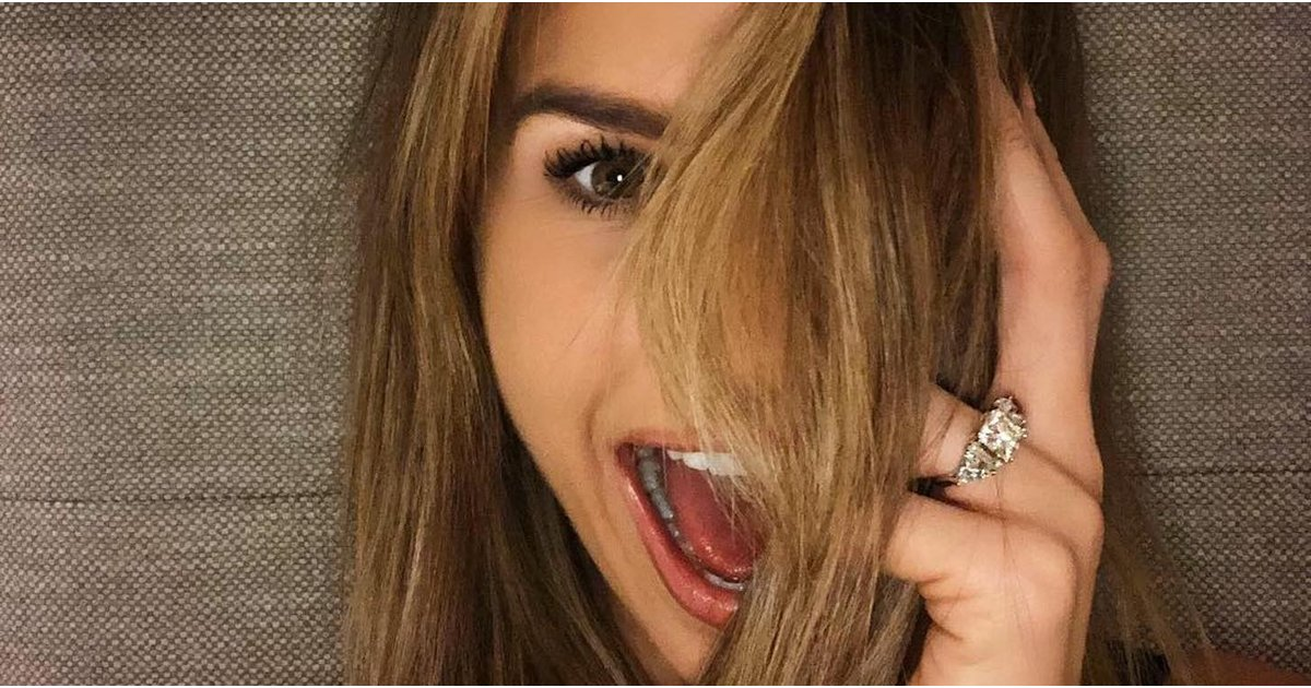 We Almost Forgot to Breathe While Looking at This Model's Jaw-Dropping $200,000 Engagement Ring