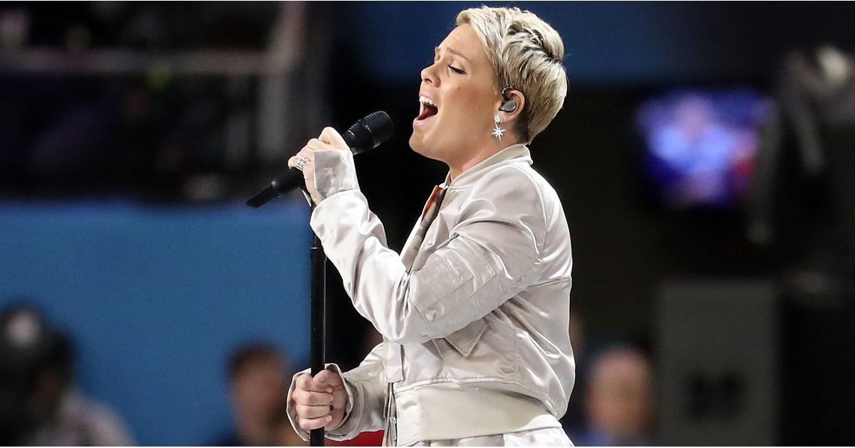 Pink, Who Sang the National Anthem at the Super Bowl, Claps Back at a Twitter Troll, Who Did Not