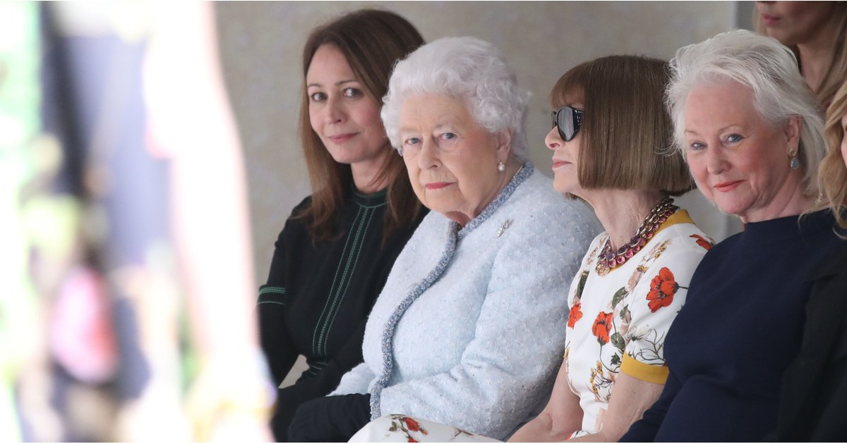 Oh My God — the Queen Just Sat Front Row at London Fashion Week