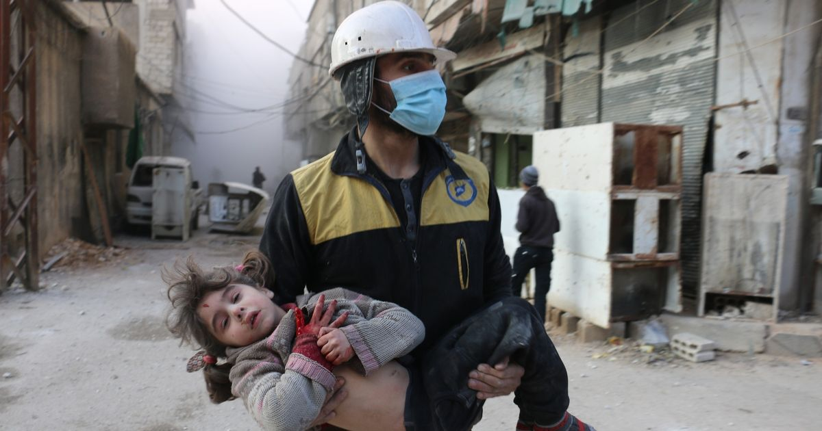 Heartbreaking image of another young casualty of devastating Syrian airstrikes