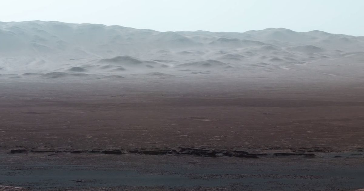 NASA releases incredible panorama from Mars showing red planet to be blue