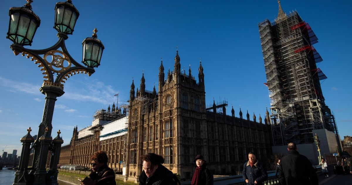 Man dies yards from entrance to the Houses of Parliament