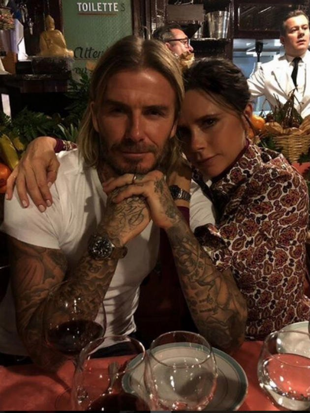 AW! David Beckham leads the way with sweet Valentine's Day message