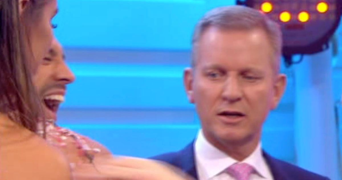 Engaged Jeremy Kyle caught looking where he shouldn't during Love Island wedding
