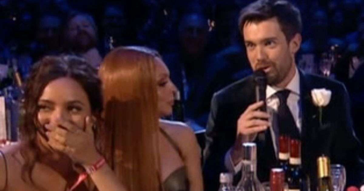 Jesy Nelson stone-faced as Jack Whitehall jokes about her dodgy Jamaican accent
