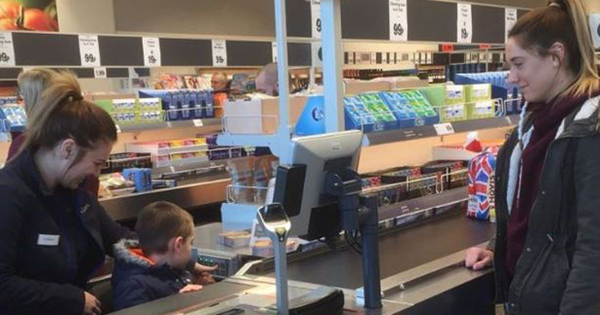 Autistic boy's adorable reaction to getting VIP experience at new Lidl store