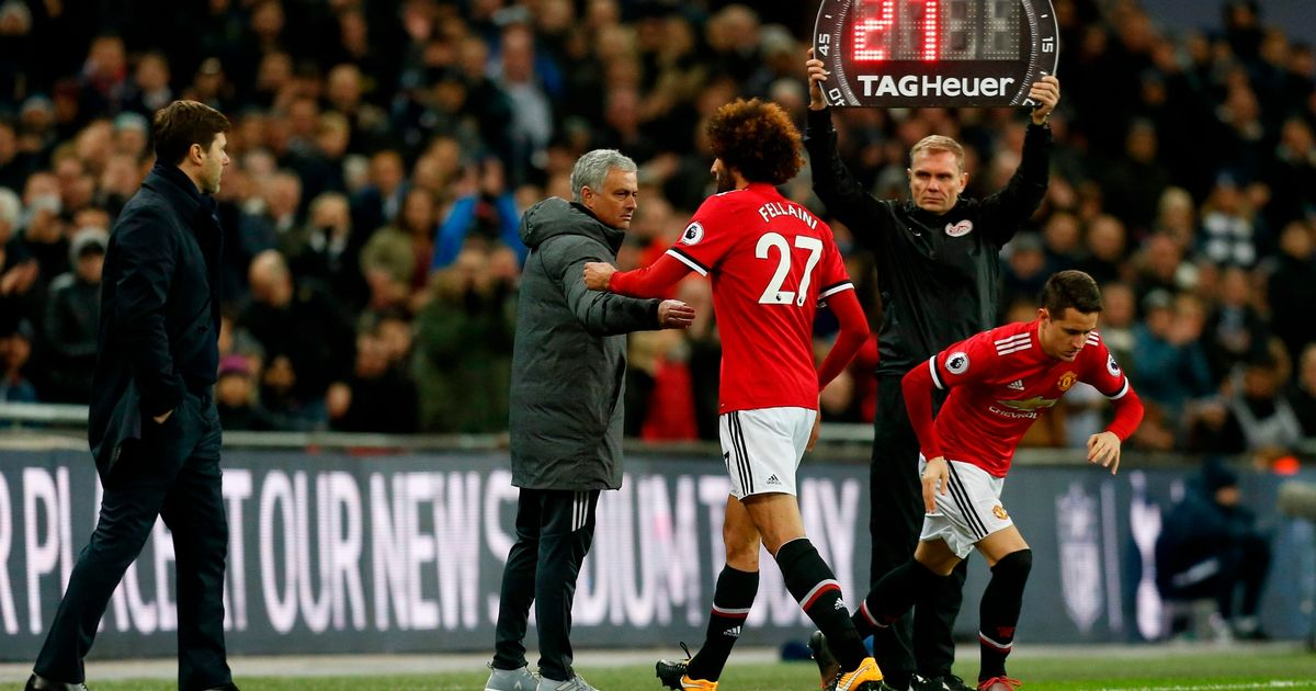 Why Marouane Fellaini was taken off after just seven minutes against Spurs