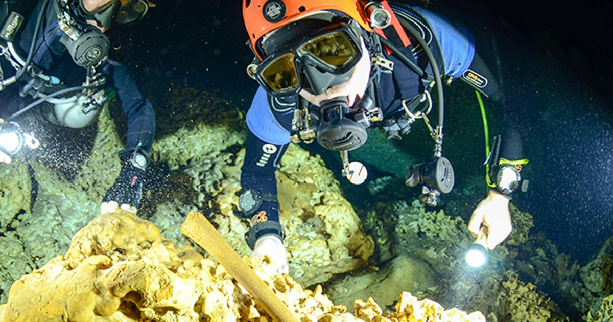 "Ancient Mayan burial ground is ""most important submerged archaeological site"""