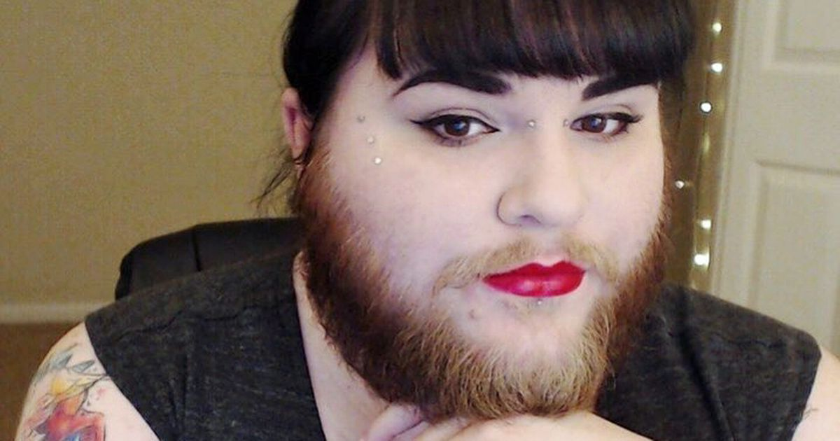 """Woman reveals how finding love gave her confidence to grow """"hipster beard"""""""