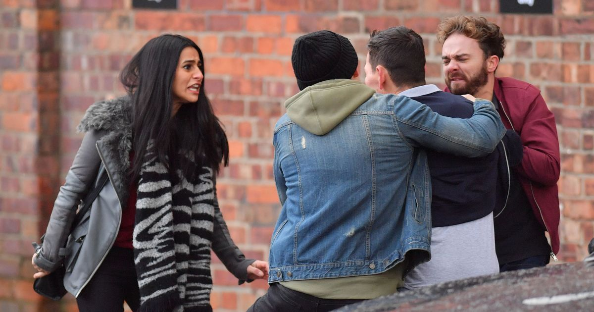 David Platt and rapist Josh Tucker pictured in nasty fight on Corrie