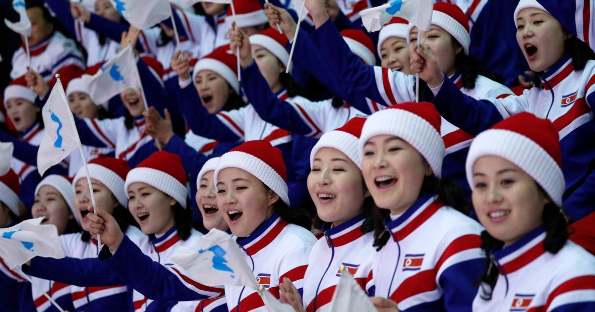North Korea's Winter Olympics cheerleaders face prison if they put a foot wrong