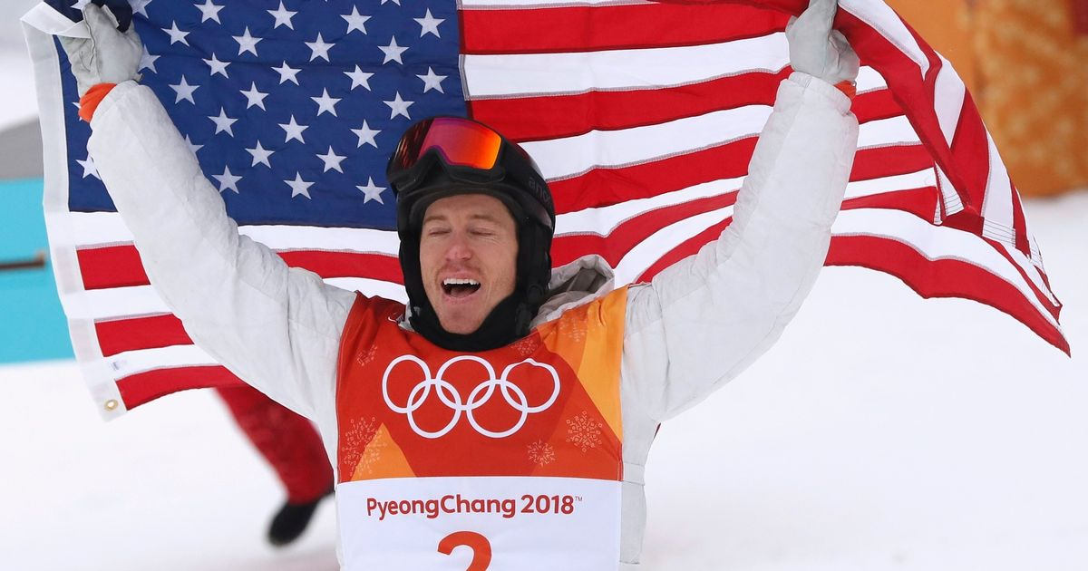 Snowboarder Shaun White wins men's halfpipe to give US 100th Winter Olympic gold