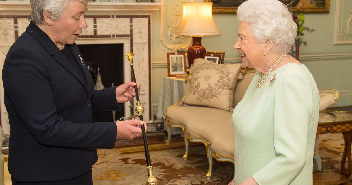 The Queen has handed over Black Rod to first woman ever to hold the title