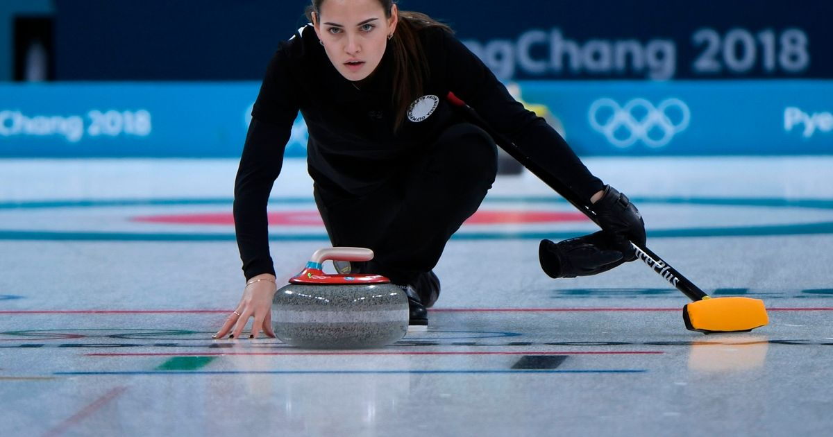 Fans can't stop talking about curling thanks to Russian Angelina Jolie lookalike