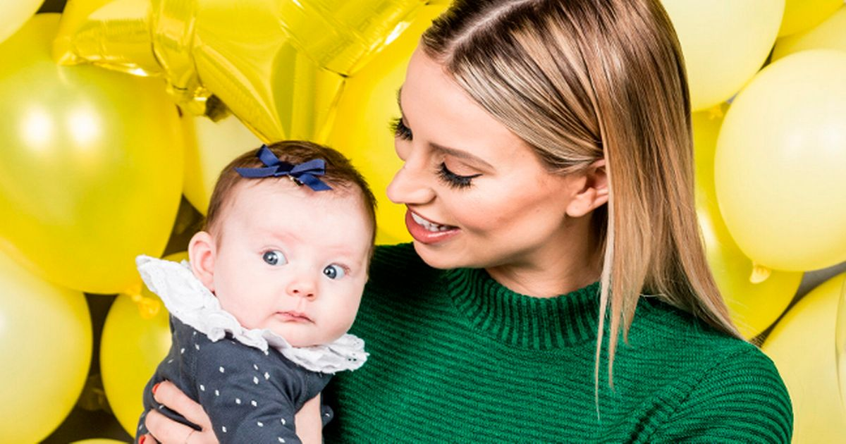 Ferne McCann flaunts post-baby body in crop top three months after giving birth