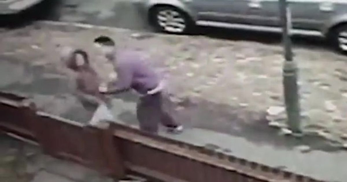 Thug wrestles 12-year-old girl to the floor and then steals her mobile phone