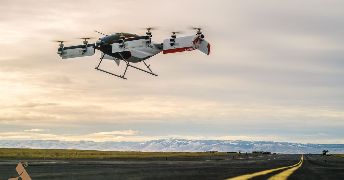 Airbus completes the first test flight of its self-flying taxi, Vahana