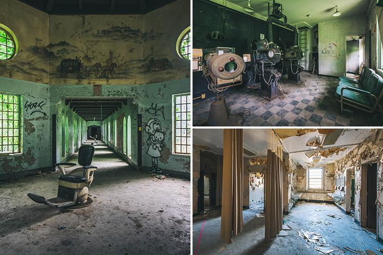 Creepy pics show abandoned examination chairs in psychiatric hospital where patients were subjected to lobotomies and electroshocks