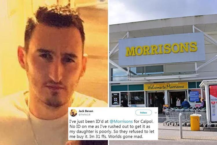 Dad, 31, fuming after Morrisons staff refused to sell him Calpol for his sick daughter because he didn't have ID
