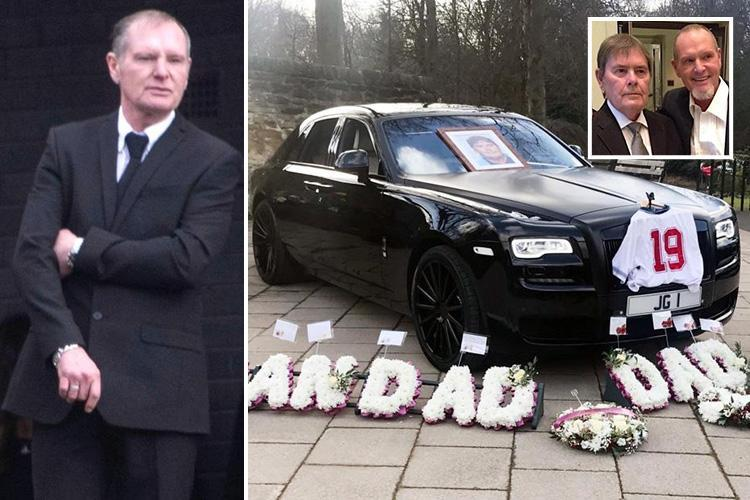 Brave Paul Gascoigne pays tribute at funeral of his dad John, 72, as he bids farewell to his 'best mate'