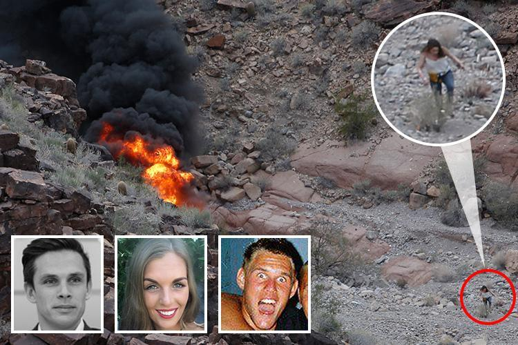Incredible moment Brit woman climbs from Grand Canyon helicopter crash wreckage in which three died – as first pics of victims emerge