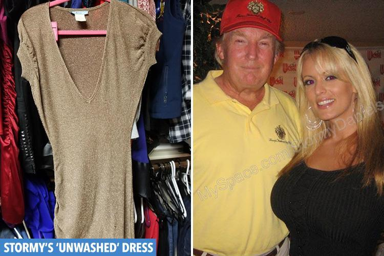 Stormy Daniels claims to have unwashed dress worn during alleged sex with Donald Trump that could be covered in his DNA