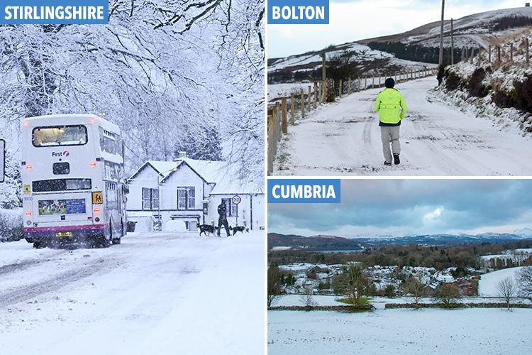 UK weather brings -5C ice and snow blast so cold that mobile phones could be cut off as half term begins with a chill