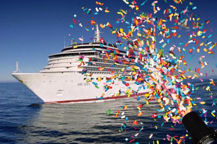Passengers blast P&O for firing polluting plastic confetti into the ocean