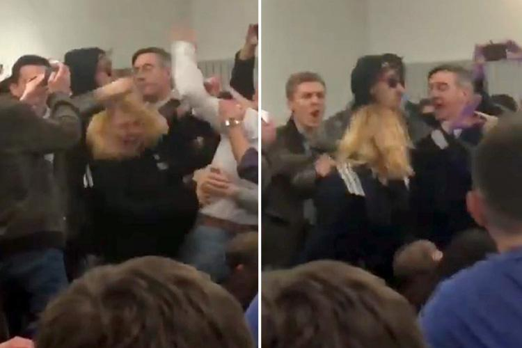 Tory MP Jacob Rees-Mogg caught in middle of violent scuffle when his university speech is interrupted by protesters