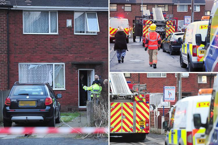 Gas explosion rips through Bolton home leaving man, 70, fighting for life and woman injured before being rescued by hero neighbours