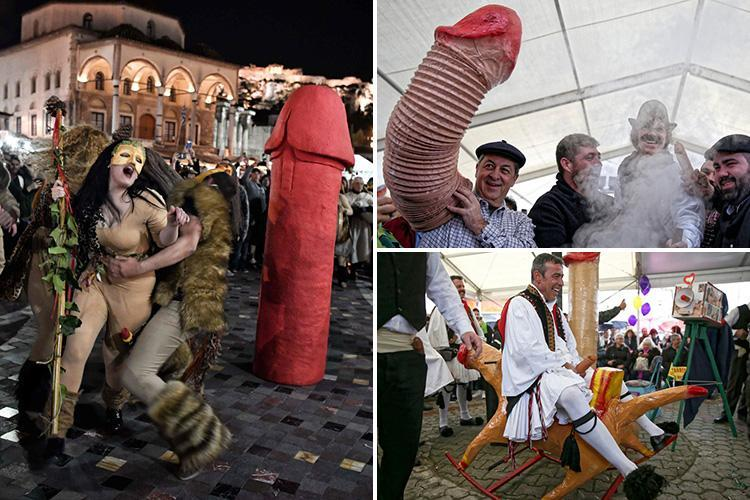 This wild PENIS festival celebrates Greek god of lovemaking with phallic parades