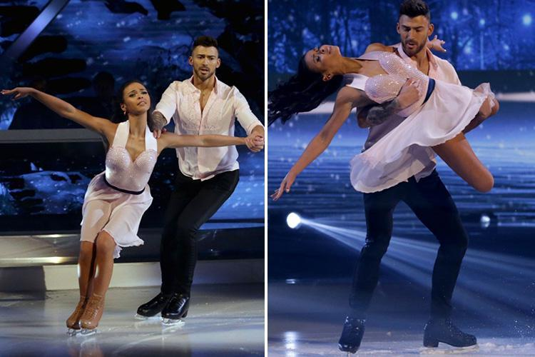 Dancing on Ice's Jake Quickenden wins the highest score of the series with romantic routine with Vanessa Bauer