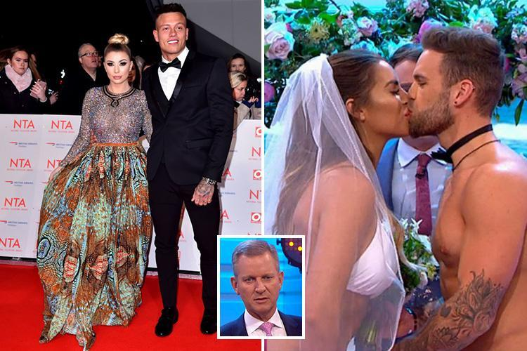 Love Island's Alex Bowen and Olivia Buckland mock Jessica Shears and Dom Lever's wedding saying 'we thought they'd do it on Jeremy Kyle!'