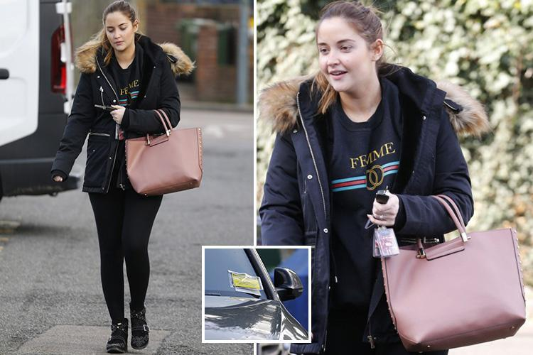 Pregnant Jacqueline Jossa slapped with a parking ticket after visiting estate agents