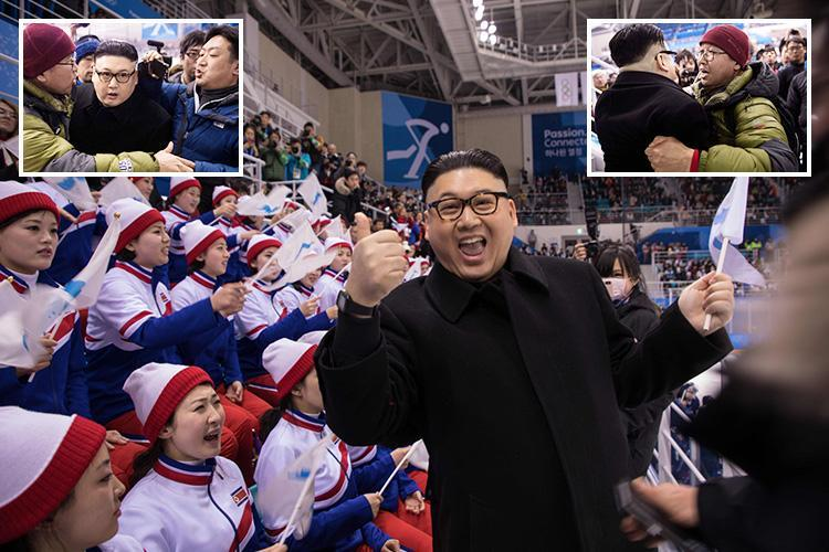 Kim Jong-un impersonator reveals he was dragged out of Winter Olympics by 'heavies' after dancing in front of 'shocked' North Korea cheerleaders