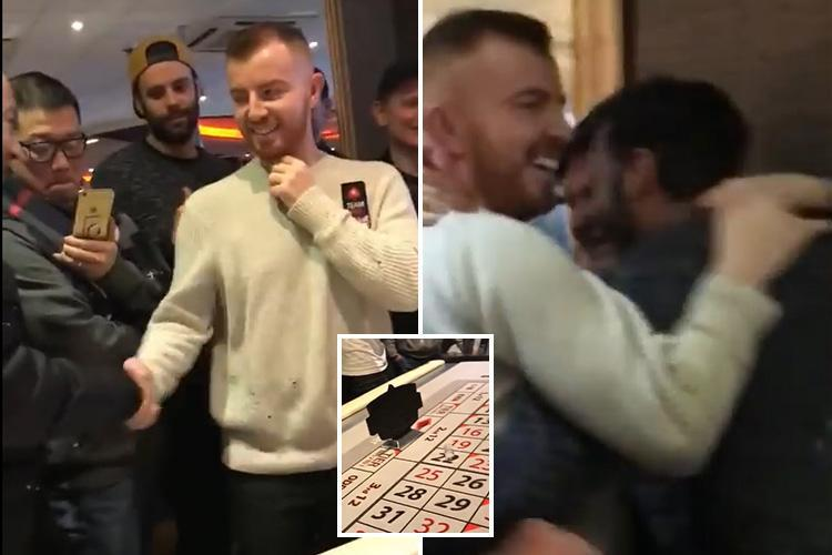Video of Brit poker player betting entire £42k tournament jackpot on ONE SPIN of the roulette wheel
