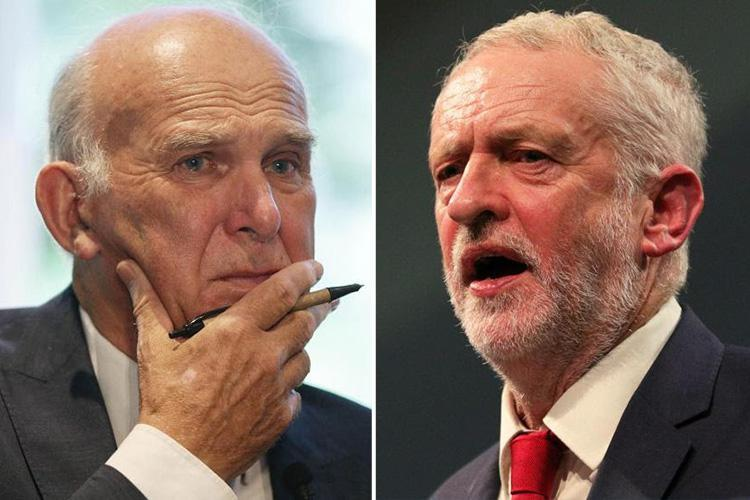 Lib Dem leader Vince Cable accuses Jeremy Corbyn of secretly working with Tories to enable Brexit